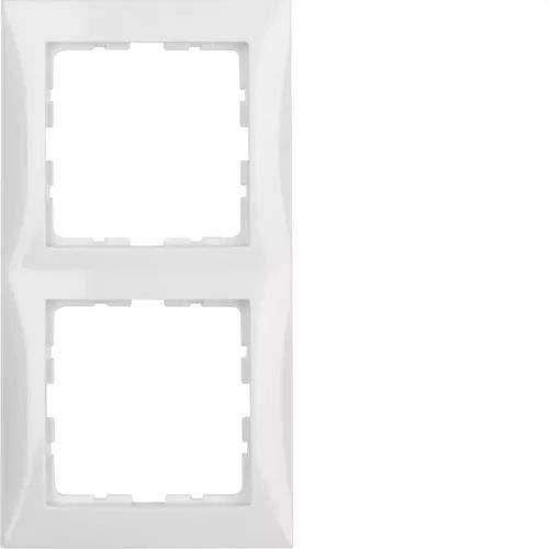 Berker 10128989 Rahmen 2fach S.1 polarweiß glänzend