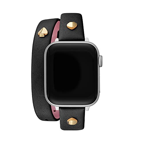 Kate Spade New York Black Double-Wrap Leather 38/40mm Band for Apple Watch (Model: KSS0110)