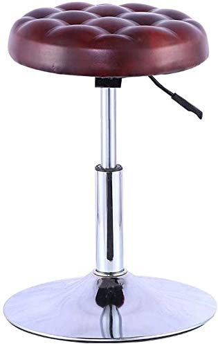 LAZ - Taburete de bar para cocina o bar, silla de desayuno, silla alta, silla giratoria, taburete de bar marrón rojizo