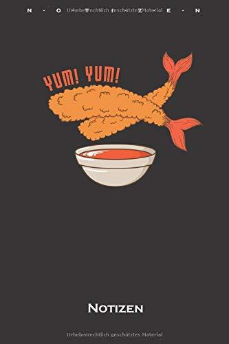 fritierte Shrimps Notizbuch: Kariertes Notizbuch für Feinschmecker und Fans der asiatischen Küche