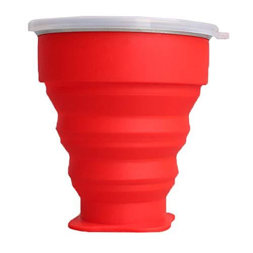SONSYON 200ML Vaso Silicona Plegable - Vaso Plegable Tazas de Café con...