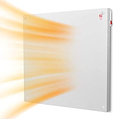 Heater Panel - Wall Mount Heater with Overheating Auto Cut-off, Up to 200 Sq Ft Coverage, Crack Resistant, 120V, 400W Power, Air Choice Electric Space Heater for home and office