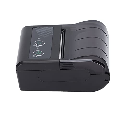 Annadue Impresora térmica, máquina de Tickets inalámbrica portátil BT 4.0 50 a 80 mm/s Velocidad de impresión 48 mm de Ancho para envío, dirección, códigos de Barras, Archivo y más(EU)