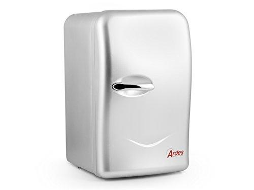 Ardes ARTK45A - Mini Frigo Ellettrico Portabile 17 Litri Con Cavo Per Casa E Cavo Con Spina Accendisigari Per Auto, Argento, 45.8 x 28 x 34.5 cm