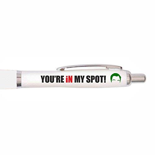 Uveeka - You're In My Spot - Big Bang Theory Pen - Big Bang Theory TV Themed Gifts for Fans - Big Bang Theory TV Show - Sheldon Cooper (Non-Personalised)