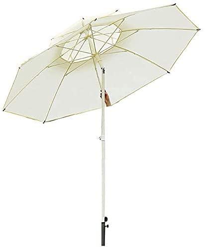 Sombrilla de jardín Parasol Sombrilla de patio de 2,5 m / 8 pies con botón de inclinación, sombrilla de exterior para patio trasero, balcón, piscina de jardín con ventilación doble, sombrilla de