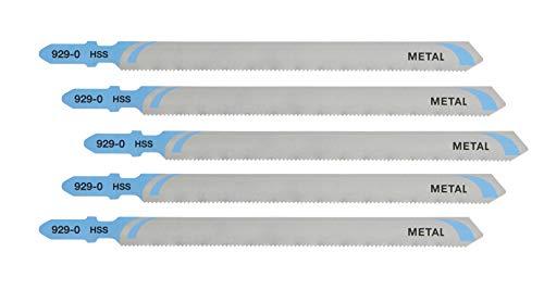 DEWALT DT2085-QZ - Hojas de sierra de calar HSS, longitud: 132mm,paso de diente: 1.2mm, para cortes rectos en planchas de metal finas,metales no ferrosos(1,5mm-3mm) y aluminio de hasta 65mm de