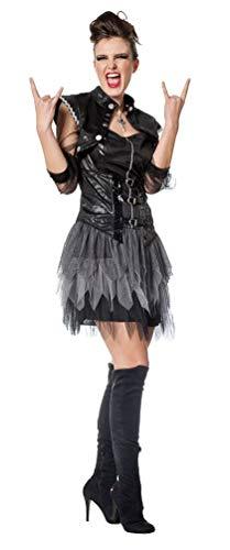 Karneval-Klamotten Punker Punk Kostüm Damen 80er Jahre