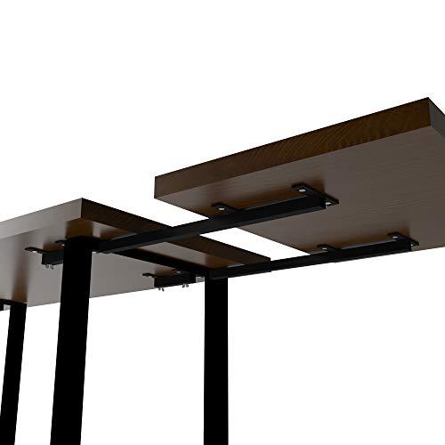 Magnetic Mobel Erweiterung Tischplatte Erweiterungsplatte Metall Schwarz (Schwarz)