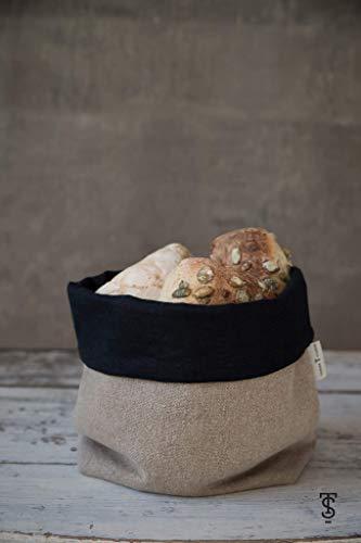 Natürliche Leinen BrotKorb, Leinen Schale, Pflanze Topf Leinen Tasche, Flachs Aufbewahrungsbehälter, Rustik Leinen Brotkorb