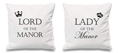 Lord Of The Manoir Dame Du Manoir Blanc Housse Coussin 16\