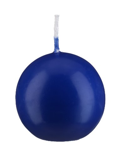 Lot de 12 Bougies Pilier Bleu Royal 12 x 6 cm