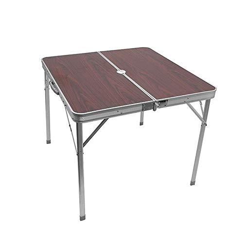 Jtoony Campingtisch Portable Outdoor Center Klapptische Slim Lightweight Small Family Table Geeignet for Angeln Picknick Camping und Reisen Falttisch Gartentisch (Color : Purple, Size : 80x80x69cm)