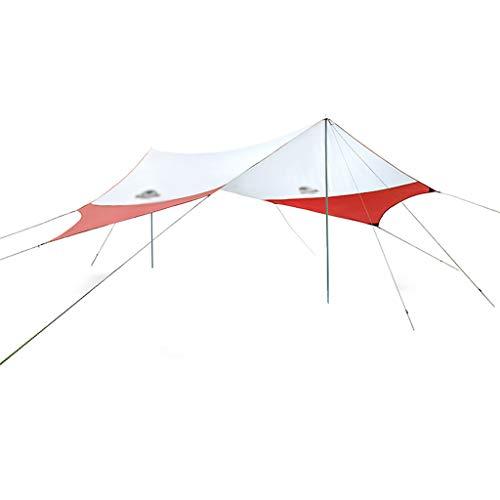 SHIJIANX Toldo de Camping,Camping Impermeable Lona con Cuerdas y Clavijas,Portátil Tarp de UV Protección para Acampar,Picnic,Senderismo y Al Aire Libre (520x460cm)