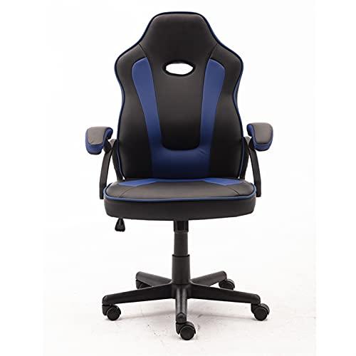 Sillas de juego giratorias y ergonómicas con sillones Computadoras de escritorio Sillas de oficina respaldadas por adultos y niños (Color : Black and blue)
