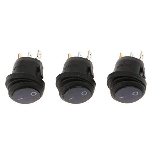 yotijar Interruptor Basculante 12 LED de Luz 12V / 220V para Coche Motocicleta