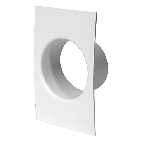 Ø 120mm Abschlussrahmen Wandanschluss Flansch Rundrohr Kunststoff Schachtsystem, Weiß