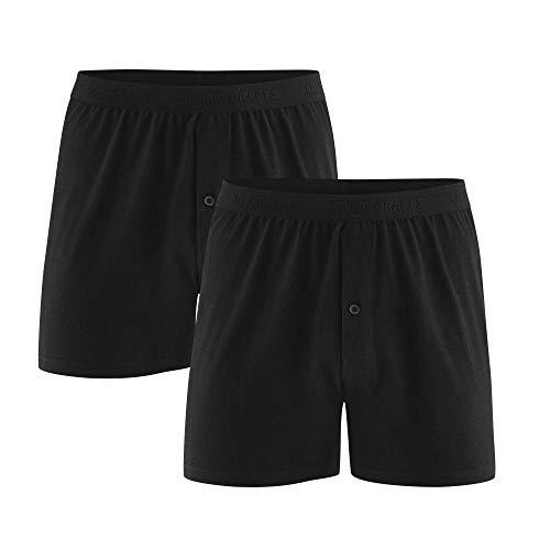 Living Crafts Boxer-Shorts, 2er-Pack XXL, Black