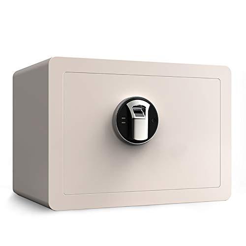 Brandvrije Kluis En Waterdichte Kluis Met Digitale Toetsenbord Kluis Home Small 25Cm Fingerprint Password Safe All Steel Anti-Theft Office Safe, Wit