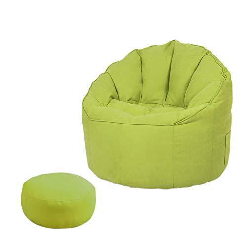 SD Bean Bag Chaise/Pouf Poire/canapé/Confortable/1 Poches/avec Repose-Pied/avec poignée/pour Enfants et adultes/65 * 65 * 65 cm