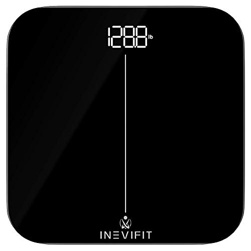 INEVIFIT Premium Bathroom Scale, Highly Accurate Digital Bathroom Body Scale, Precisely Measures Weight up to 400 lbs