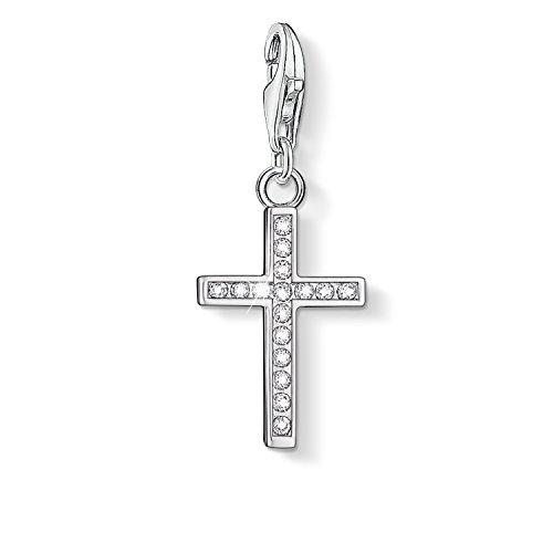 Thomas Sabo Damen-Charm-Anhänger Kreuz Charm Club 925 Sterling Silber 0049-051-14