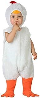 Atosa-23767 Disfraz de Gallina, Bebe T, color blanco, 0 a 6