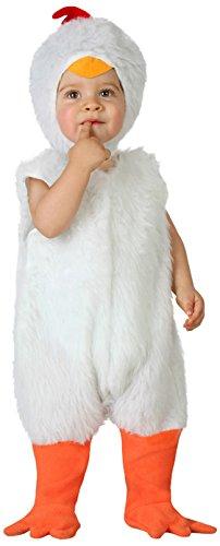 Atosa-23767 Disfraz de Gallina, Bebe T, color blanco, 0 a 6 meses (23767)