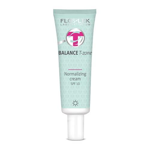 FLOSLEK Gesicht Tages-Creme für Mischhaut   50 ml   BB Creme mit LSF   Gemischte Teintpflege mit Unvollkommenheiten   Normalisierende Vegane Make-up Basiscreme   Hautpflege...
