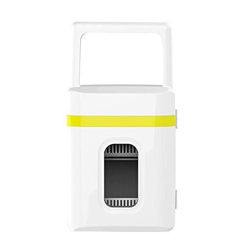 Mini Fridge 10 Litre Cooler & Warmer, Portable Small Fridges AC/DC Mini Refrigerator for Car And Home Drinks Fridge & Makeup Fridge Include Removable Shelves-yellow