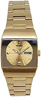 ساعة سيكو 5 أوتوماتيكية 21 جواهر تقويم ذهبي ستانلس ستيل للسيدات