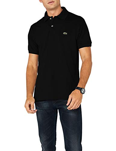 Lacoste Herren Regular Fit Poloshirt L1212 Einfarbig, Schwarz (BLACK 031), L (Herstellergröße: 5)