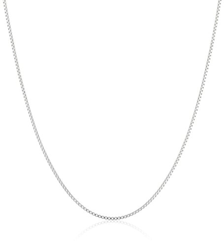 Sterling Silver Thin 0.6mm Box Chain Necklace, 20