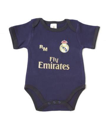 10XDIEZ Body Bebe Real Madrid 814 Marino-Negro - Tallas bebé - 3 Meses