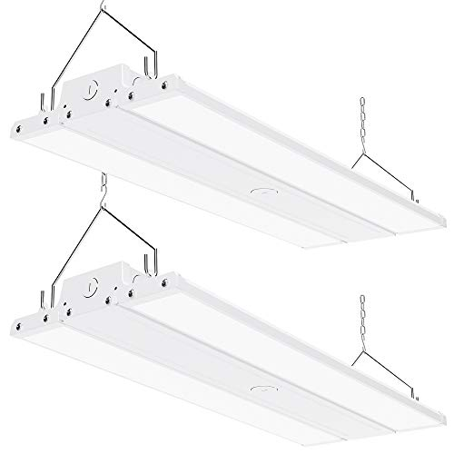 Sunco Lighting 2 Pack Linear LED High Bay, 2FT, 110W, 400W HID Replacement, 15,400 LM, 5000K Daylight, Dimmable 1-10V, Damp Rated, Commercial Grade Lighting, Warehouse Light - UL, DLC