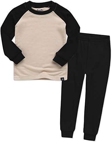 VAENAIT BABY Kids Long Sleeve Modal Sleepwear Pjs 2pcs Set Modalraglan Black Beige S Blackbeige product image