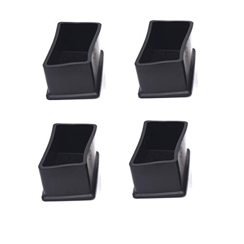 Antrader 4PCS Table Chair Leg Tips Rectangle Shaped Rubber PVC Furniture Pads Foot End Caps Covers Protectors 1' x 2'
