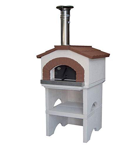 Lineavz Forno in muratura prefabbricato per Pizza Linea VZ Modello Ponza Funziona a Legna