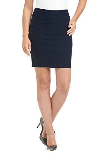 Rekucci Women's Ease in to Comfort Modern Pull-On Skirt for Office to Casual (XX-Large,Navy)