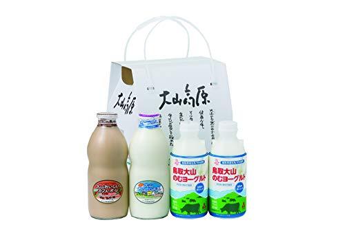 ギフトミルクとのむヨーグルト(牛乳900ml×1本、カフェ・オ・レ900ml×1本、のむヨーグルト750ml×2本) (熨斗無)