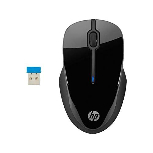 HP Mouse 250 Wireless, profilo sagomato e ergonomico, tecnologia LED blu, risoluzione fino a 1600 DPI, Nero