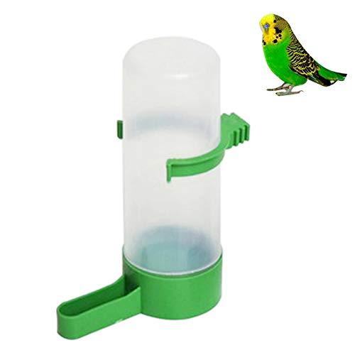 Vogel-Wasserspender Futterspender Automatischer Vogelwasser Trinkwasserflasche, langlebig und praktisch Kunststoff Tränke Behälter für Vögel Papageien Wellensittich Käfig(grün, 12 x 4,5 cm)