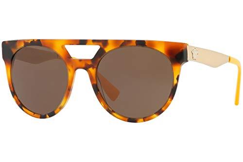 Versace VE4339 zonnebril Havana bruin met bruine glazen 524973 VE 4339