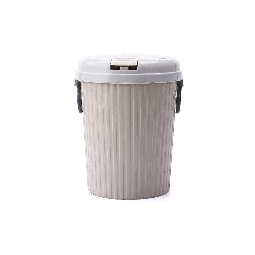 XVXFZEG Kreativität Kunststoff bruchsicheren Abfalleimer Mülleimer, Covered for Badezimmer, Küchen, Home Offices, Dorms, Kinder Zimmer Leicht Ohne Abdeckung Waste Paper Trash Can 10L