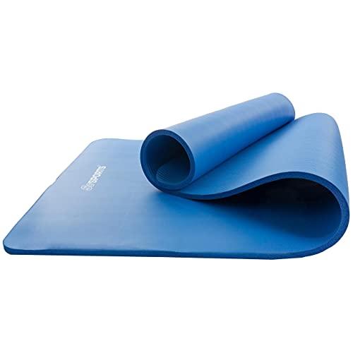 ScSPORTS® Gymnastikmatte dick & rutschfest, Yoga-Matte mit Schultergurt, 190 cm x 80 cm x 1,5 cm, universeller Einsatz im Fitnessstudio oder zu Hause (dunkelblau)