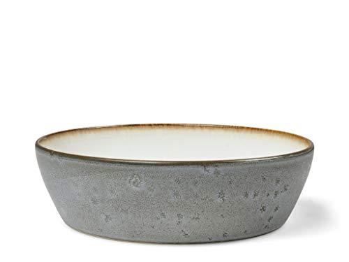 BITZ Suppenschale, Suppenschüssel aus Steingut, 18 cm im Durchmesser, grau/cremefarben