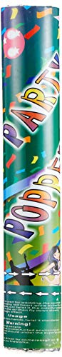 Mondial-fete - 1 Canon gros confettis Vert 30 cm