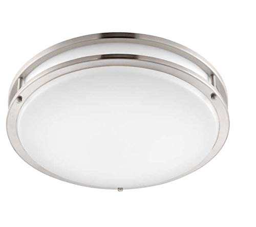 Altair Lighting LED 14-Inch Flush mount Decorative Light Fixture, 21W (120w Equivalent), 3000K, Brushed Nickel Finish - AL-3151 by Altair Lighting