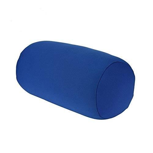Ladieshow Cuscino cilindrico,Cuscino in Miniatura con Micro-Tallone Cuscino Arrotolabile per Collo,Schiena,Supporto per la Testa per alleviare l'affaticamento,Adatto per Ufficio,Viaggi e casa(Blue)