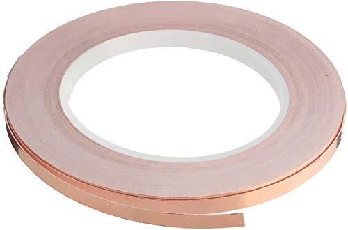 Kupferband 30M Lange 50Mm Breite Kupferfolienband Emi Copper Foil Tape Abschirmband Kupferfolie Kupferband Selbstklebend